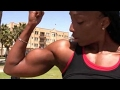 The biceps of girls fit girl  with big biceps
