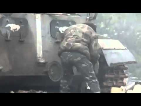 VIDEO: Ukraine television shows government troops firing