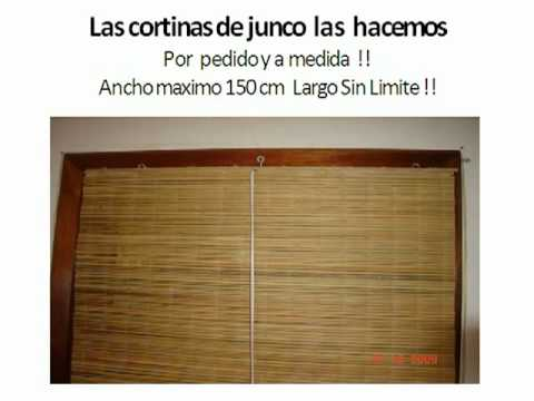 Cortinas de bambu youtube - Cortinas de esparto ...