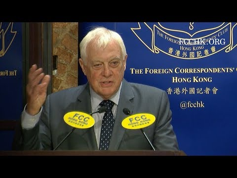 2017.09.19 Chris Patten: Politics & Identity - The Challenge to the International Order