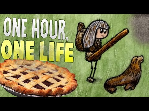One Hour One Life - Clubbing Seals, Making Fire & Baking Pies! - One Hour One Life Gameplay