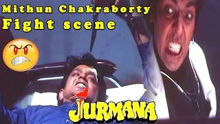 Mithun Chakraborty fight scene Jurmana Bollywood Action Hindi Movie