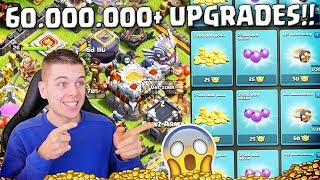 60.000.000+ COINS AAN UPGRADES! NIEUW RECORD!! CLASH OF CLANS NEDERLANDS