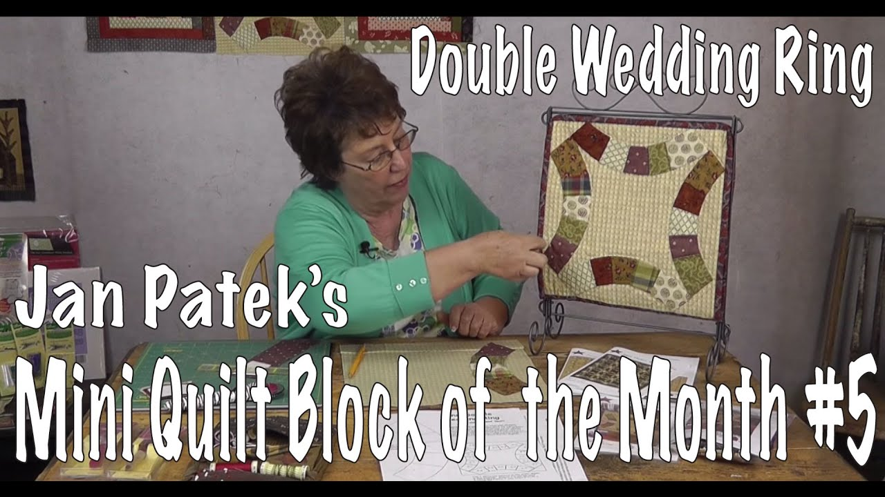 How to sew a Double Wedding Ring Quilt Block FIVE of Jan Patek s