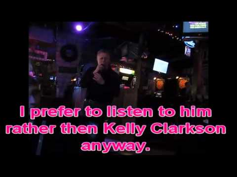 Kelly Clarkson - Because of you karaoke at Maxies (Peter)
