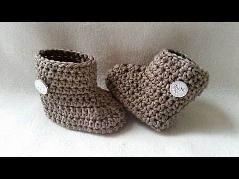 Crochet Baby Bootie Winter Bootie Babyshoe Part 1 Sole By