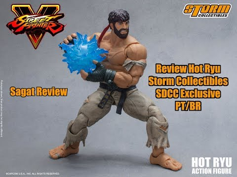 Review Hot Ryu SDCC Street Fighter V Storm Collectibles PT - BR