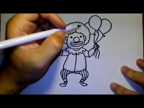 วาดการ์ตูน กันเถอะ สอนวาดรูป การ์ตูน ตัวตลก โบโซ่