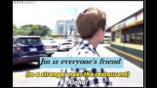 BTS Jin friendly personality moments - Everyone's friend ft Park Jihoon Hwang Chi Yeol Random People
