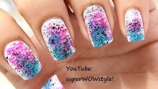 NO DRAWING !! Very Easy Nail Art - BEGINNERS !! Very Easy Nail Designs Tutorial
