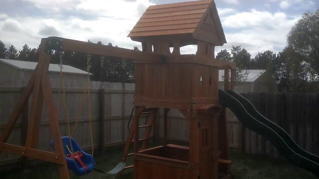 Sams Club Monterey Playground Swing Set Review Youtube