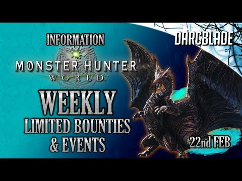 AT Kushala on PC! Weekly Limited Bounties & Event Quests : Monster Hunter World : 18th Jan 19 thumbnail
