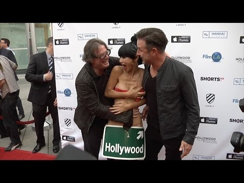Bai Ling Candid Video with Director Jefery Levy and David Arquette