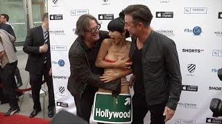 Bai Ling with Movie Director Jefery Levy and David Arquette | Candid Video thumbnail