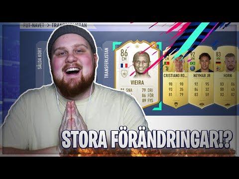 DYRA FÖRÄNDRINGAR I MITT LAG TILL WEEKEND LEAGUE!! - FIFA 19 SVENSKA