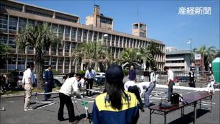 17日夜にネットに書き込まれた爆破予告で、岸和田市役所を始め学校など...