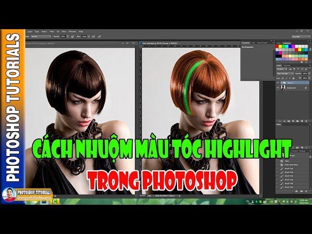 Cách Nhuộm Màu Tóc Highlight Trong Photoshop 🔴 MrTriet Photoshop Tutorials