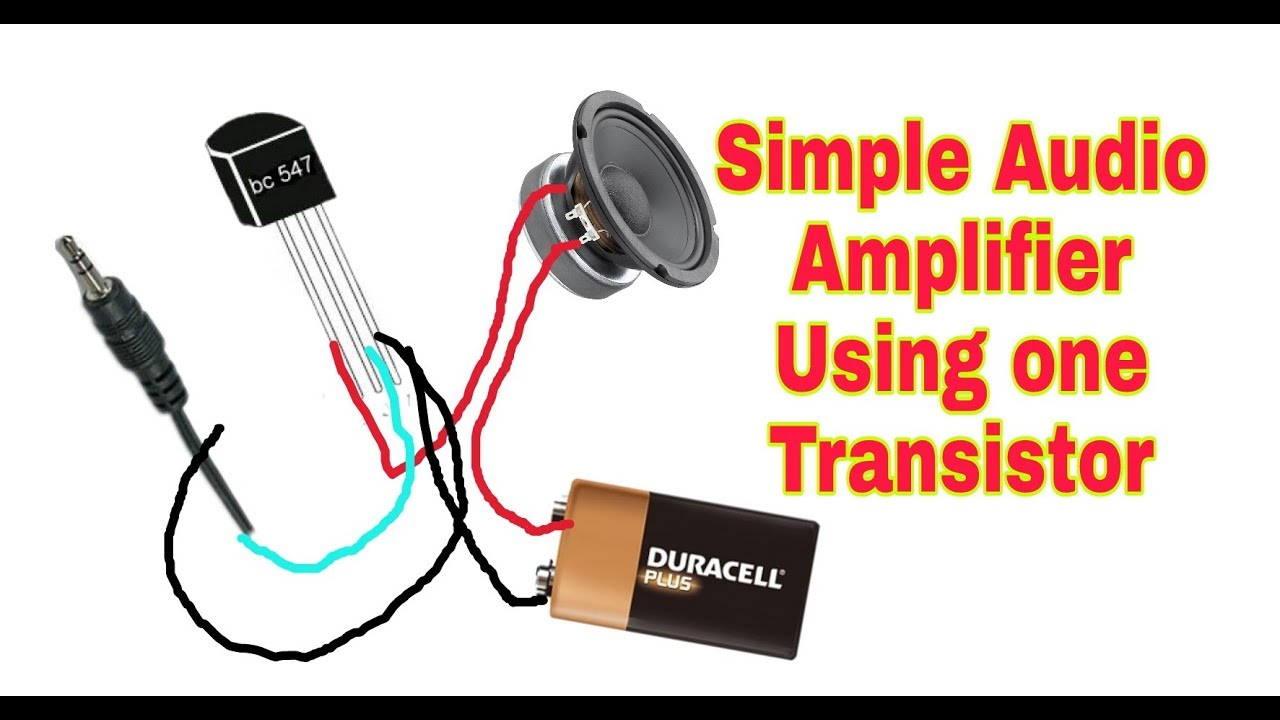 Make a simple amplifier using only one bc547 transistor