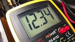 PKW Batterie Test mit Multimeter Startbatterie Autobatterie prüfen Mercedes Benz C180 Anleitung