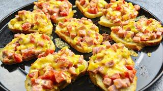 Вкуснейшие горячие бутерброды! От них в восторге моя семья! Готовлю часто на перекус!