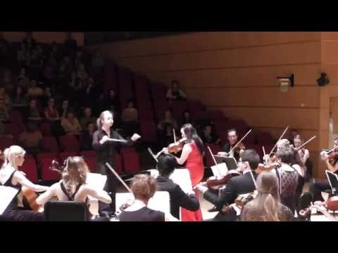 Tchaikovsky Violin Concerto, mvts II and III  Holly Mathieson, conductor; Katrina Lee, violin