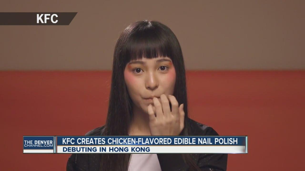 KFC Edible Nail polish - YouTube