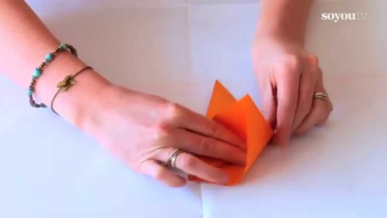 comment faire un oiseau en origami tuto diy youtube. Black Bedroom Furniture Sets. Home Design Ideas