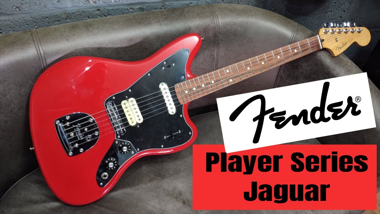 fender player series jaguar sonic red | review demo - youtube