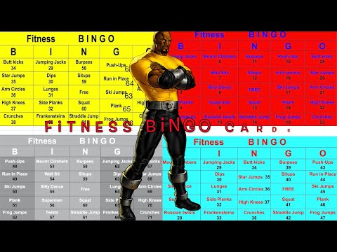 How to make a fitness bingo card