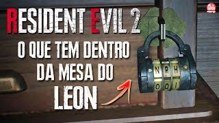 RESIDENT EVIL 2 REMAKE - REVELADO O QUE TEM DENTRO DA MESA DO LEON || GAMEPLAY