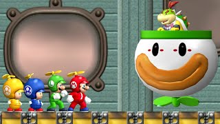 new-super-mario-bros-wii-all-bosses-4-players