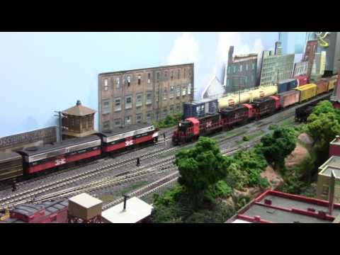 My Maybrook Line HO Scale model railroad including the Poughkeepsie Bridge
