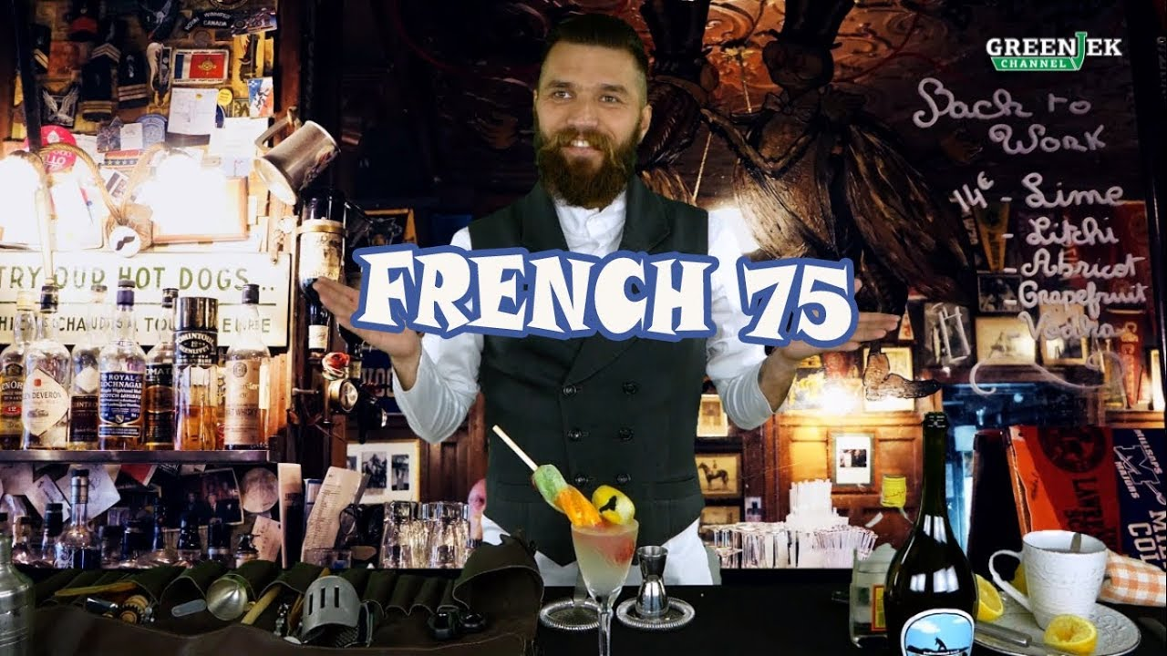 The French 75 cocktail - Рецепт коктейля