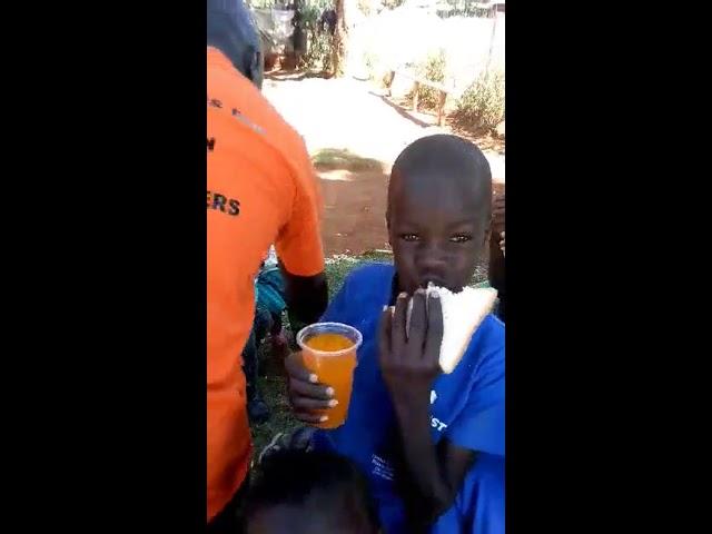 Blessings of Food and Juice in Western Kenya