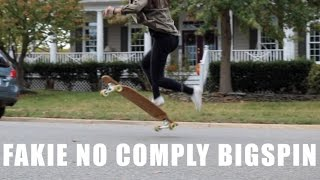 Longboard Fakie No Comply Bigspin Trick Tip #16