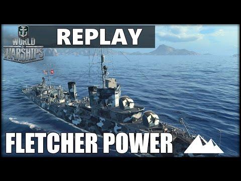 FLETCHER, sehr rasantes Gefecht! - World of Warships | [Replay] [Ger] [60fps]