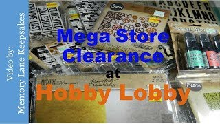 75% OFF Tim Holtz Mega Store Clearance at Hobby Lobby!!!
