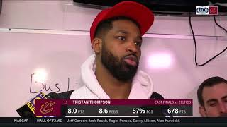 Tristan Thompson on facing elimination: Win or go to Cancun | CAVS-CELTICS POSTGAME | NBA PLAYOFFS