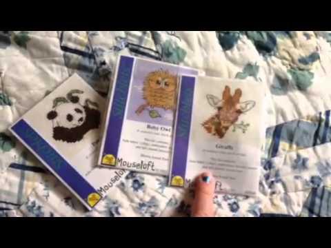 Peacock Mouseloft Stitchlet mini counted cross stitch kit