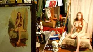 Пример набросков - Обучение живописи. Масло. Фигура, 2 серия