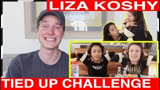 Liza koshy tied up challenge reaction