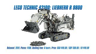 LEGO Technic 42100: Liebherr R 9800: Hands-on Review, Speed Build & Parts List [4K]