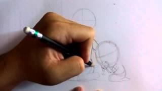 สอนวาดภาพ การ์ตุน วันแม่ ep01 ร่างภาพด้วยดินสอ