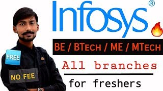 INFOSYS recruitment 2019 | ENGINEER | BE/BTech/ME/MTech | NO FEE ( FREE ) – OFF CAMPUS