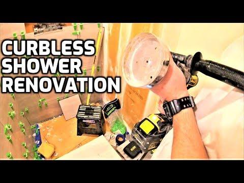 Curbless Shower Reno-Bath & Shower Tile Ideas EP.40