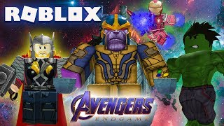 AVENGERS ENDGAME MOVIE IN ROBLOX! (JOUER COMME THANOS!)