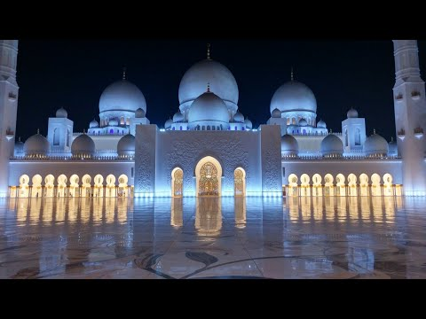Grand Mosque Abu Dhabi Sunset grand Tour at Night Sheik Zayed Grand Mosque 2017 United Arab Emirates