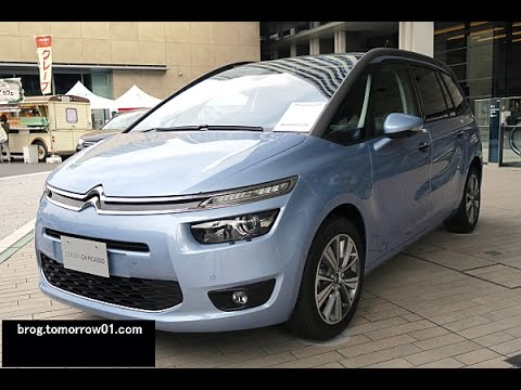 citroen grand c4 picasso exclusive plus blue youtube. Black Bedroom Furniture Sets. Home Design Ideas