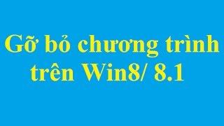 Cách gỡ bỏ một phần mềm trong Windows 8/8.1 - Taimienphi.vn
