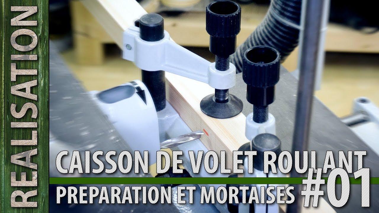 Coffrage Bois Volet Roulant caisson de volet roulant, préparation et mortaises